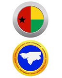 button as a symbol  GUINEA BISSAU