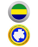 button as a symbol GABON