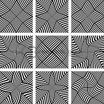 Abstract patterns set. Design elements.