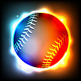 Glowing Baseball Illustration