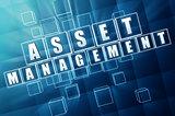 asset management in blue glass blocks