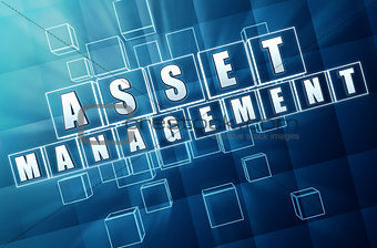 asset management in blue glass blocks