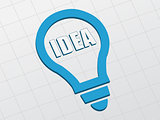 idea in light bulb sign, flat design