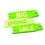 big spring sale, green drawn label