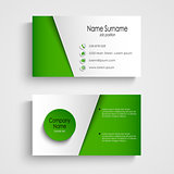 Modern light green business card template