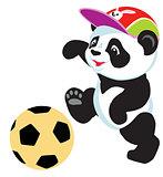 panda playing with ball