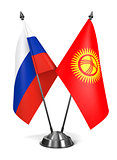 Russia and Kyrgyzstan - Miniature Flags.