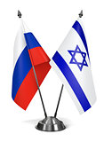 Russia and Israel - Miniature Flags.