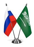 Russia and Saudi Arabia - Miniature Flags.
