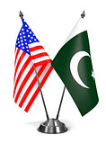 USA and Pakistan - Miniature Flags.