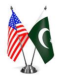 USA and Pakistan - Miniature Flags.