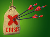 Crisis - Arrows Hit in Red Target.