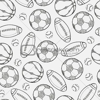 sketch of different balls