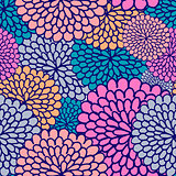 Varicoloured flower seamless pattern