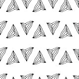 hand drawn seamless pattern with unusual triangles
