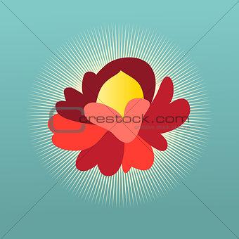 Beautiful flower sign