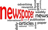 word cloud - newspaper
