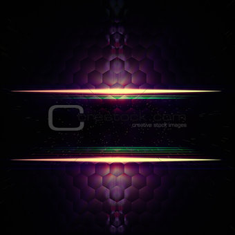 abstract violet hexagons background with text space