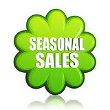 spring seasonal sales green flower label