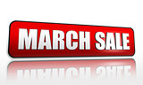 March sale red banner