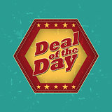 deal of the day - retro label