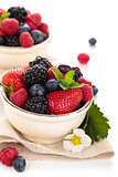 Fresh fruits in bowl.