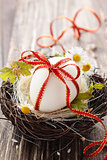 Easter egg in nest.