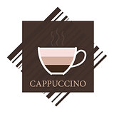 Vector cappuccino icon