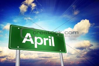 April Green Road Sign