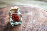 Saffron in the vial