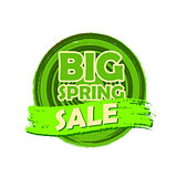 big spring sale, round drawn label