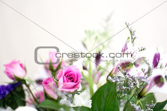 Bouquet Of Purple And Pink Flowers