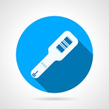Round vector icon for positive pregnancy test