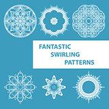 Blue Round Patterns