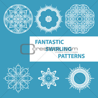 Blue Round Patterns