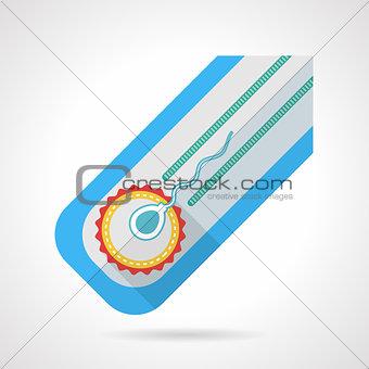 Flat colored vector icon for fertilization
