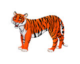Red cartoon tiger