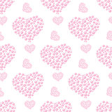 pattern of bubble hearts