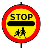 Stop Children Sign