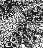 Doodling hand drawn patterns