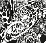 Doodling hand drawn patterns