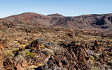 Lunar landscape of Teide National Park. Tenerife. Canary Islands