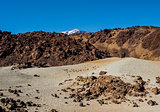 Scenic view of volcano Teide, Tenerife. Canary Islands