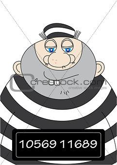 man in prison uniform mugshot
