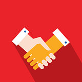 Handshake Partnership Successful business concept