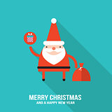 Cute Santa Claus modern flat design style