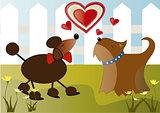 Dogs in love