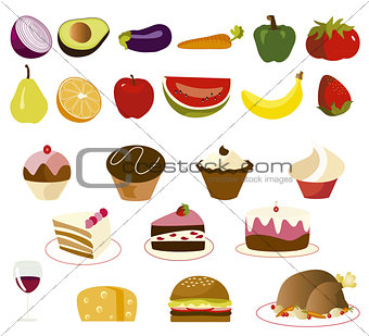 food set vector