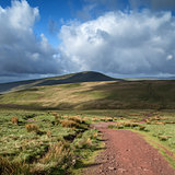 Beautiful landscape of Brecon Beacons National Park