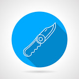 Blue vector icon for pocket knife